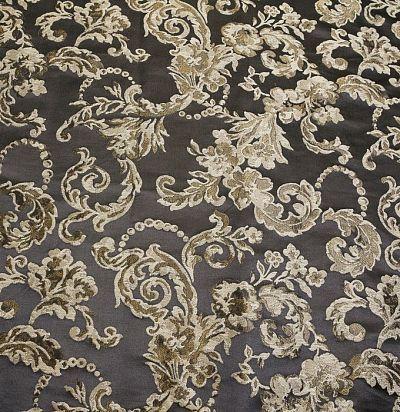 шелковая ткань темного оттенка S5509-31286 Ampir Decor